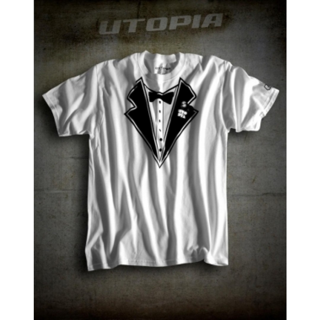 UTOPIA T-shirt Tux Άσπρο UT-TEE-TUX-W