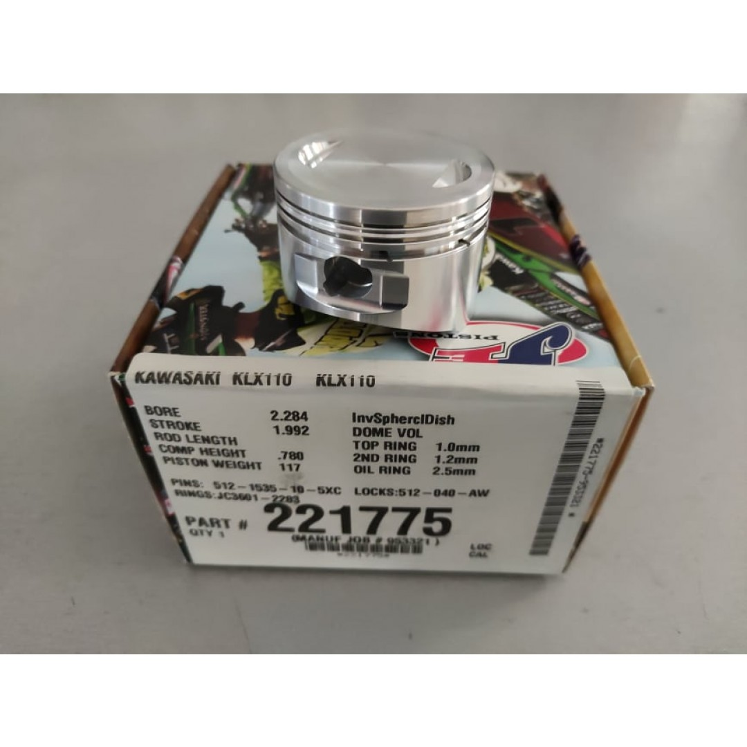 JE σφυρήλατο πιστόνι BigBore 58mm +5mm 135cc Υψηλής συμπίεσης 10.5:1 221775 Kawasaki KLX 110 2002-2020, Suzuki DRZ 110 2003-2006