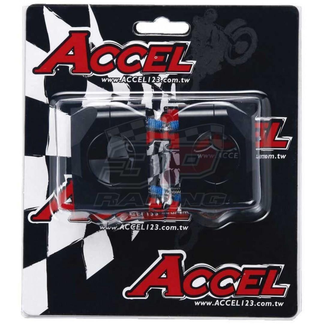 Accel καβαλέτα τιμονιού κιτ-Αποστάτης 20mm ύψος για 22.2mm τιμόνι σε 28.6mm Μαύρο AC-BM-15-28.6BK Universal
