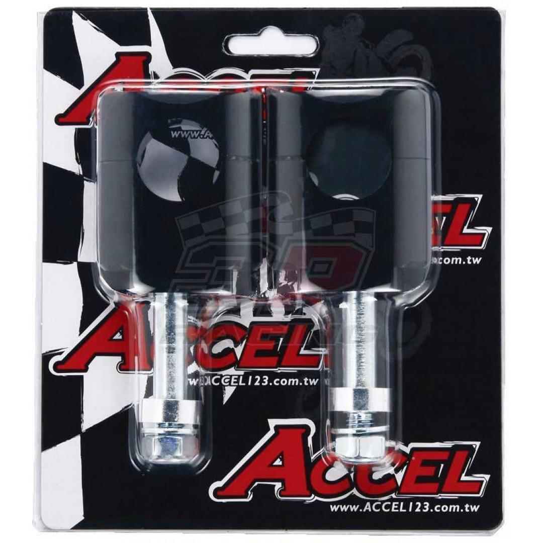 Accel καβαλέτα τιμονιού κιτ με 12mm βίδα & 45mm ύψος για 28.6mm τιμόνι - Μαύρο AC-BM-13-28-F12 Universal