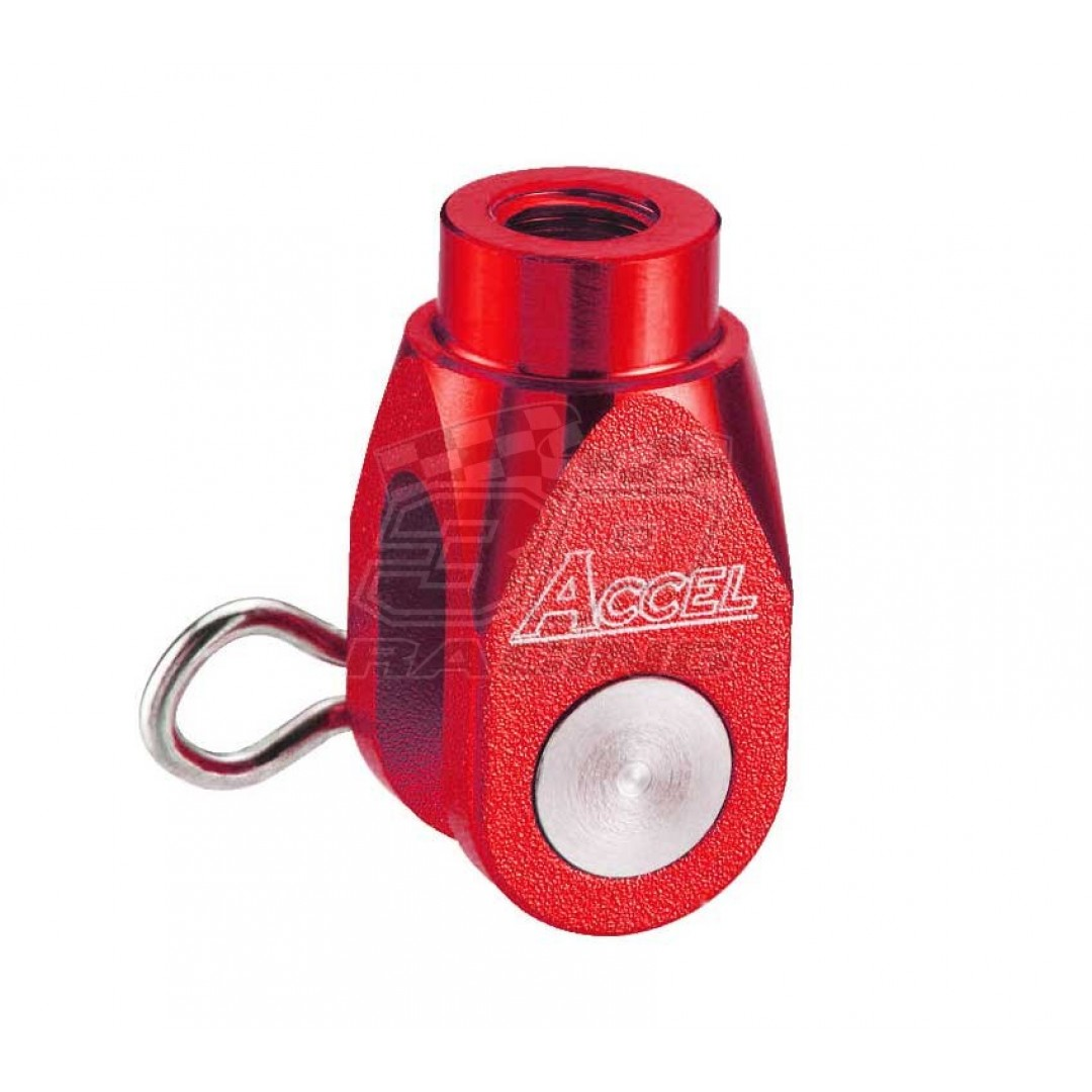 Accel brake clevis billet Red AC-BBC-03-RED Kawasaki KX 65/80/85/100, KX 125/250, KXF 250, KXF 450, KLX 450R, Suzuki RMZ 250