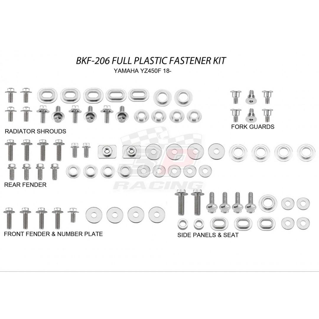 Accel πλήρες κιτ βίδες για πλαστικά AC-BKF-206 Yamaha YZF 450 2018-2019, YZF 250 2019