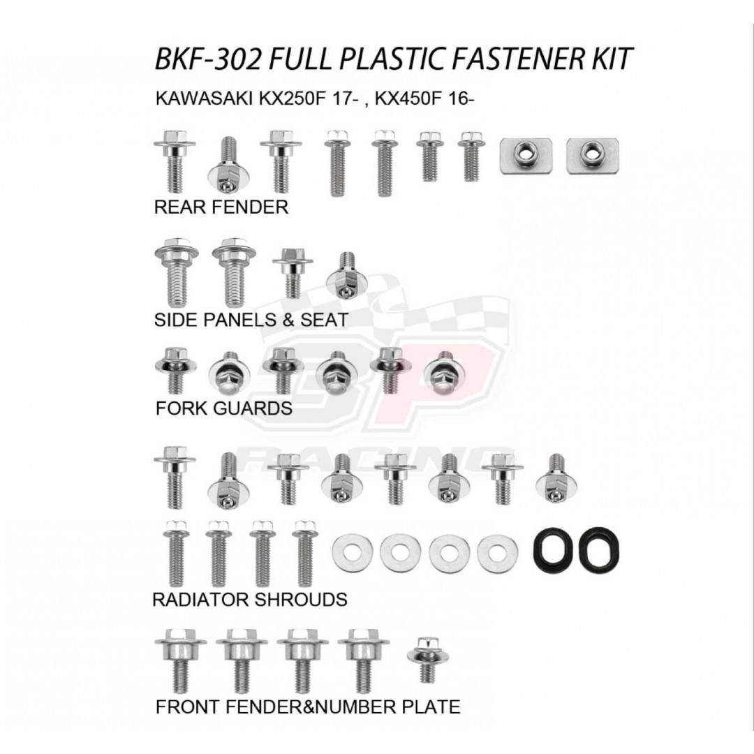 Accel πλήρες κιτ βίδες για πλαστικά AC-BKF-302 Kawasaki KXF 250 2017-2020, KXF 450 2016-2020