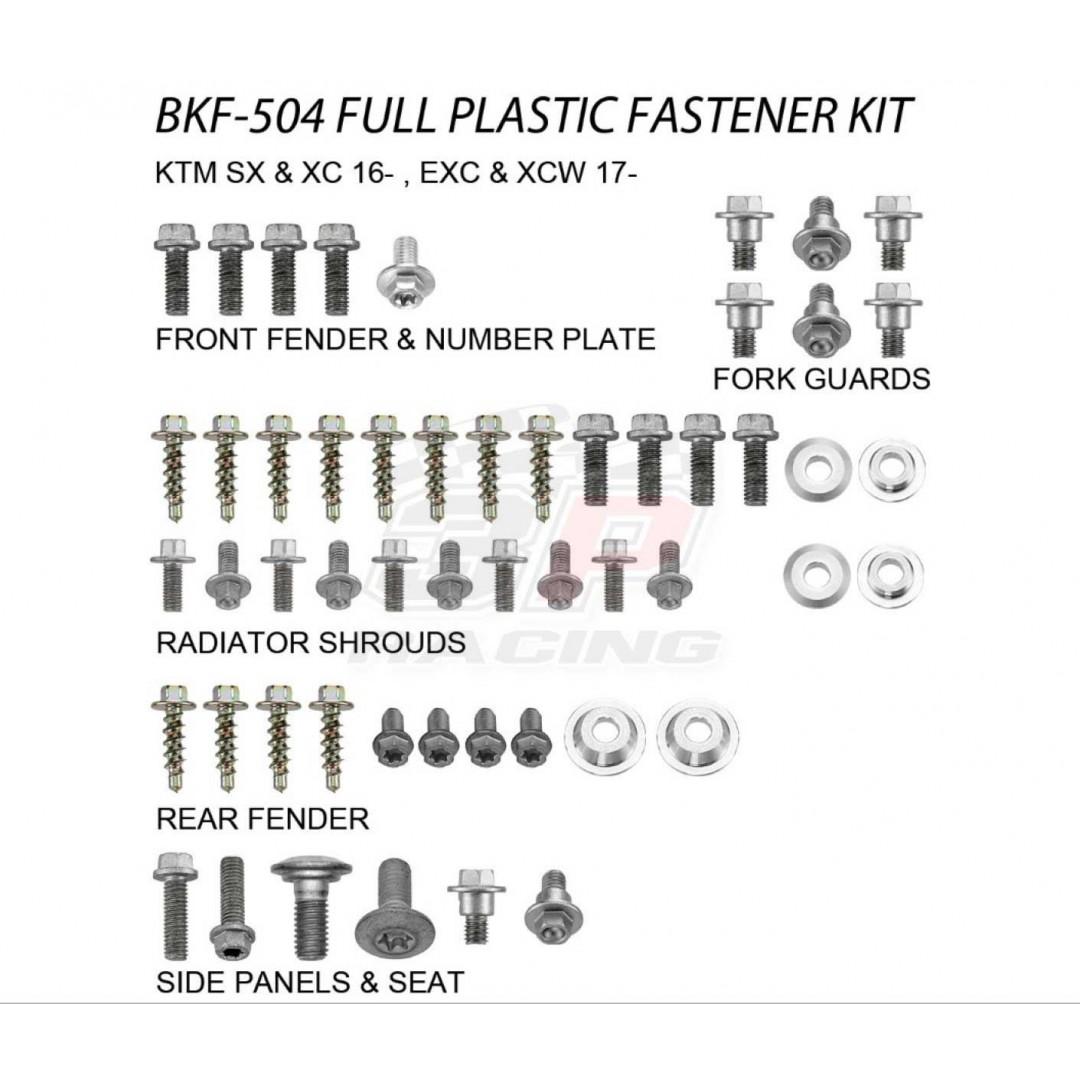 Accel πλήρες κιτ βίδες για πλαστικά AC-BKF-504 KTM 2016-2020 SX 125, SX 150, SX 250, SX-F 250, SX-F 350, SX-F 450, 2017-2020 EXC 150, EXC 250, EXC 300, EXC-F 250, EXC-F 350, EXC-F 450, EXC-F 500