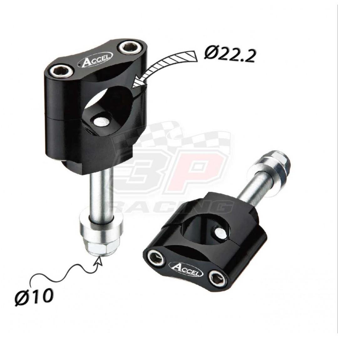 Accel καβαλέτα τιμονιού κιτ με 10mm βίδα & 34.7mm ύψος για 22.2mm τιμόνι - Μαύρο AC-BM-07-22-F10 Universal
