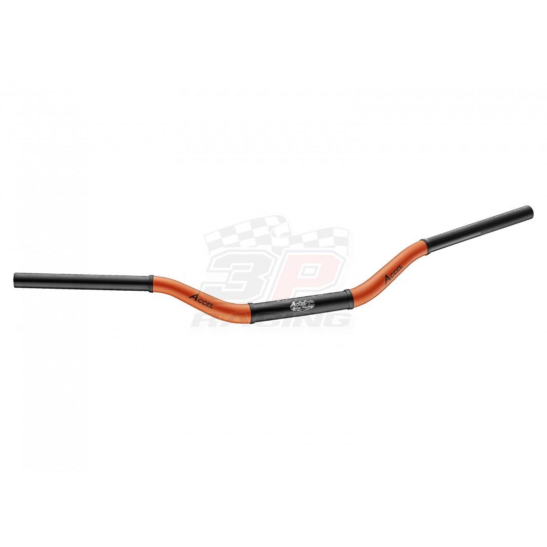 Accel δίχρωμο τιμόνι fat bar 28.6mm Μαύρο / Πορτοκαλί AC-CTH-10-6061O Συμβατό με όλα τα καβαλέτα / βάσεις τιμονιού 28.6