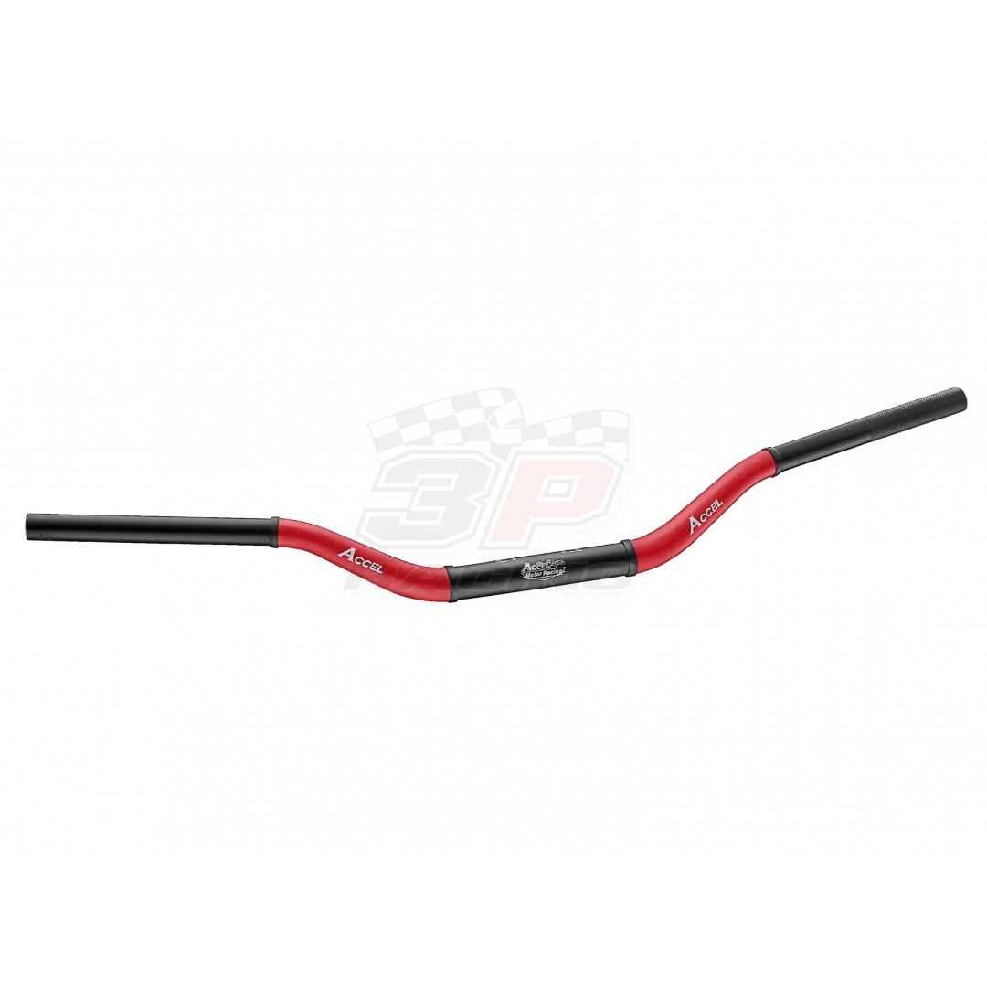 Accel δίχρωμο τιμόνι fat bar 28.6mm Μαύρο / Κόκκινο AC-CTH-10-6061R Συμβατό με όλα τα καβαλέτα / βάσεις τιμονιού 28.6