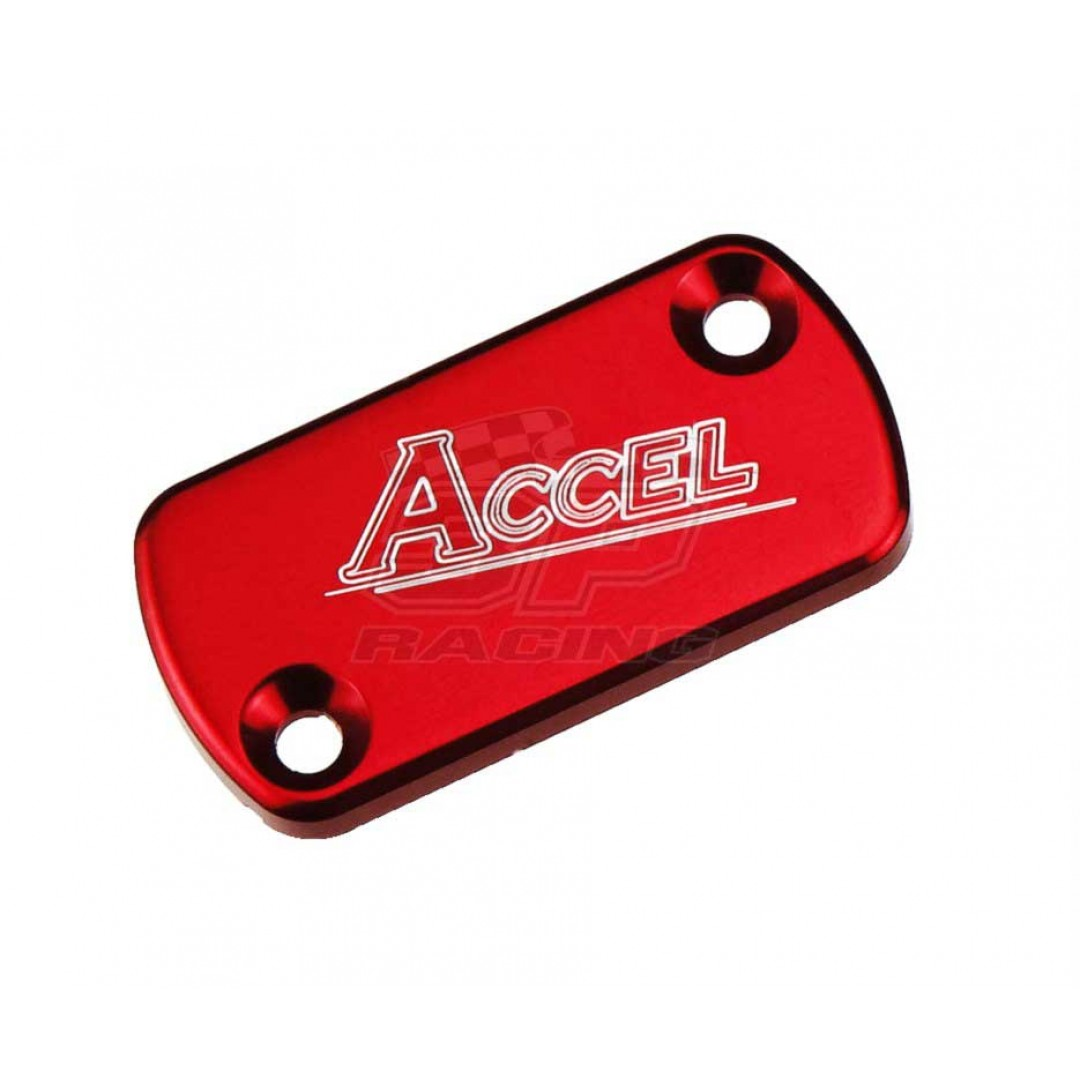 Accel καπάκι δοχείου πόμπας εμπρός φρένου Κόκκινο AC-FBC-01-RED Honda CR 80/85/125/250/500, CRF 250R/250X/250RX/450R/450X/450RX, XR 250R/400R/650R