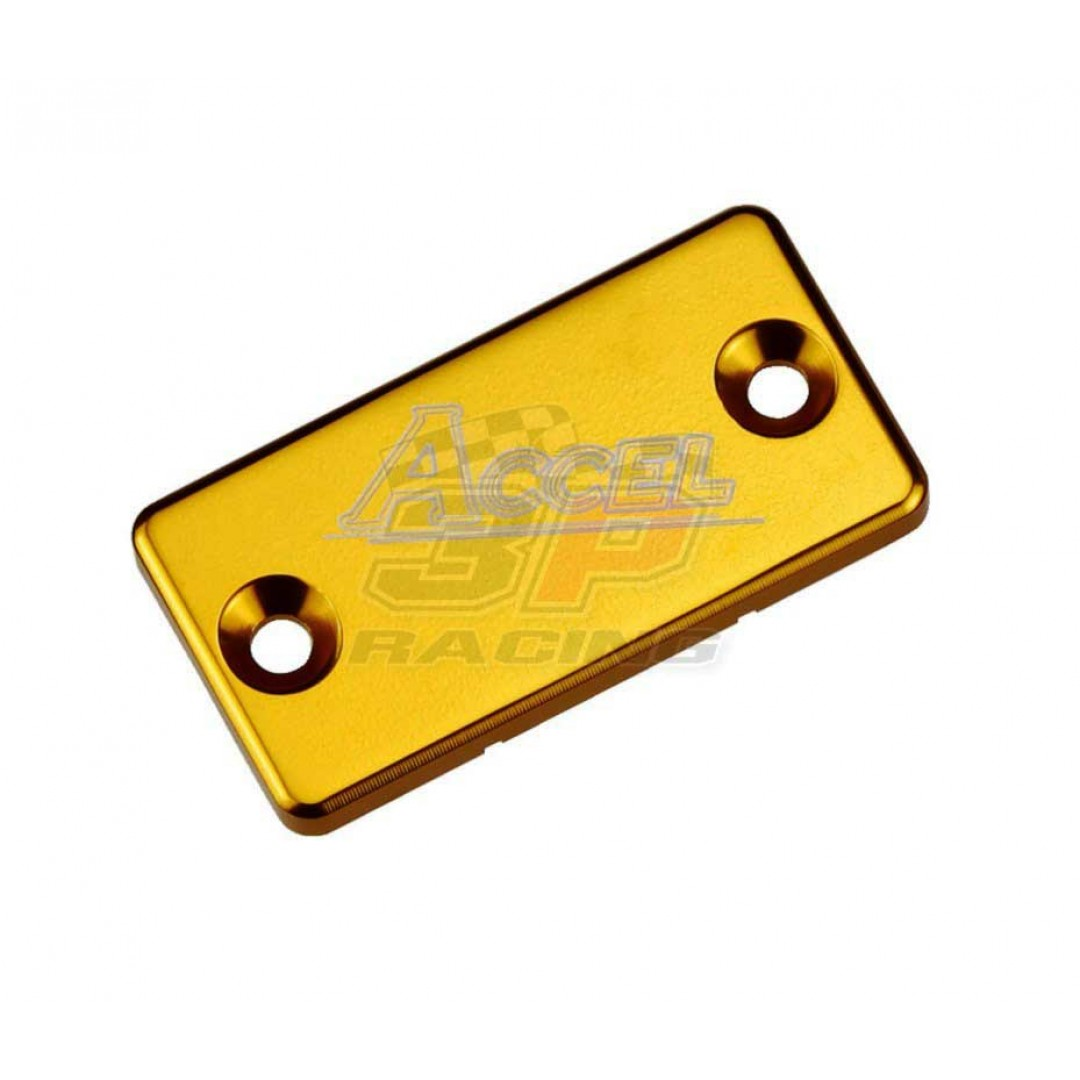 Accel Front brake reservoir cover Gold AC-FBC-02-GOLD Suzuki RM/RMZ/RMX/DRZ, Kawasaki KX/KDX/KLX/KXF,  Yamaha YZ/WR/YZF/WRF/TTR