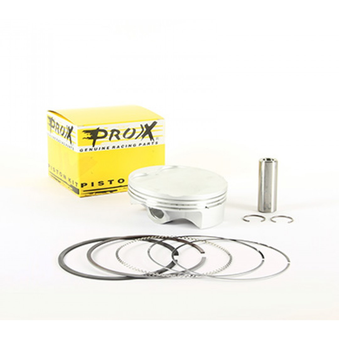 ProX forged piston kit for Honda CRF450, CRF450X 2019-2020, CRF450L 2019-2020, Kit includes piston rings,pin and circlips. P/N: 01.1419.A, 01.1419.B, 01.1419.C , Diameter: 95.96mm(A), 95.97mm(B), 95.98mm(C). Compression ratio: 12.0:1