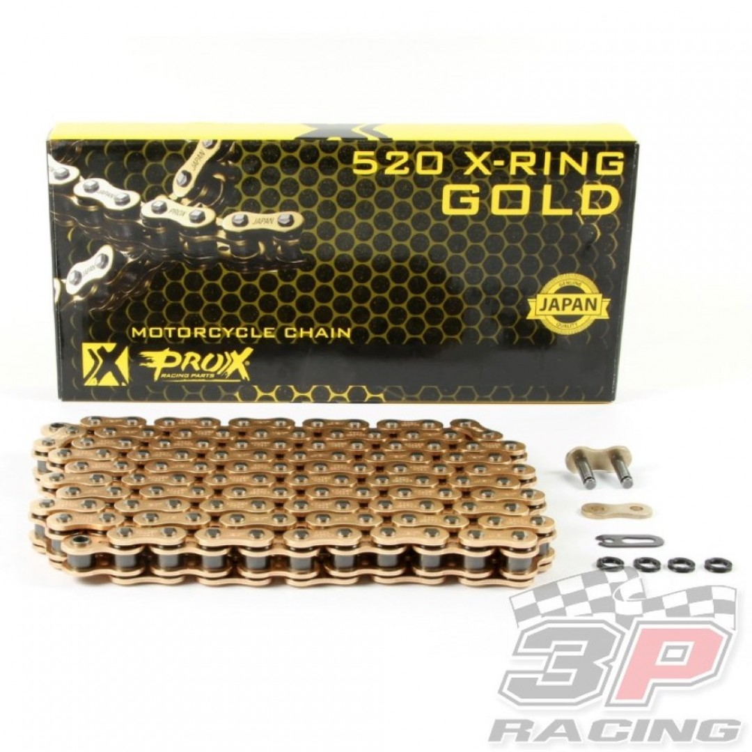 ProX αλυσίδα κίνησης X-Ring σε χρυσό χρώμα 07.RC520120XCG