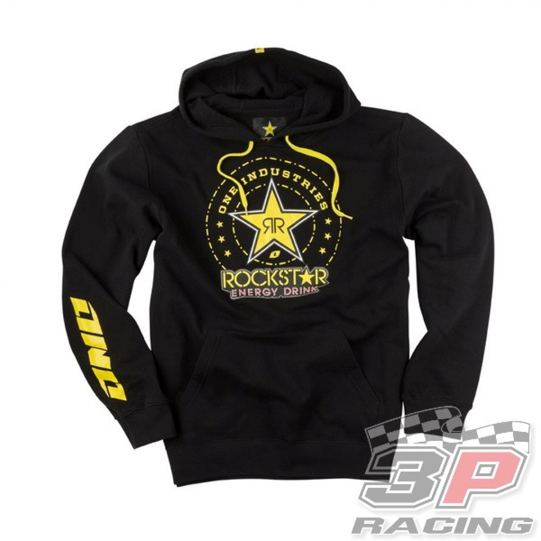 ONE Industries φούτερ με κουκούλα Rockstar Order Μαύρο 36137-001