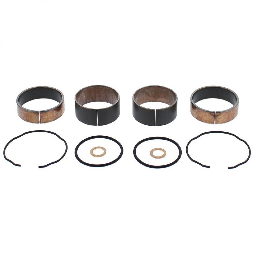 AllBalls 38-6133 frontfork suspension guide & slide bush, bushings set for Honda CBR1000 CBR1000RR CBR1000RA 2010 2011. Includes Upper & lower bushing, copper washers and fork seal snap rings.