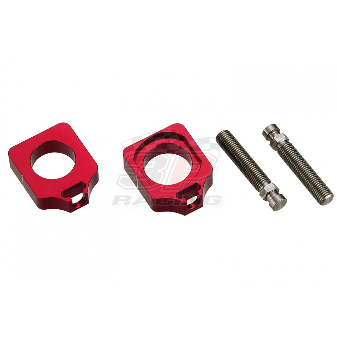 Accel CNC Dirt bike Red chain tensioners - adjusters axle blocks Lollipop type for Honda CRF 250R CRF250 CRF250R 2009-2020, CRF 250RX CRF250RX 2019-2020, CRF 450R CRF450 CRF450R 2009-2020, CRF 450RX CRF450RX 2017-2020. P/N: AC-AB-23-RED. Made from alumini