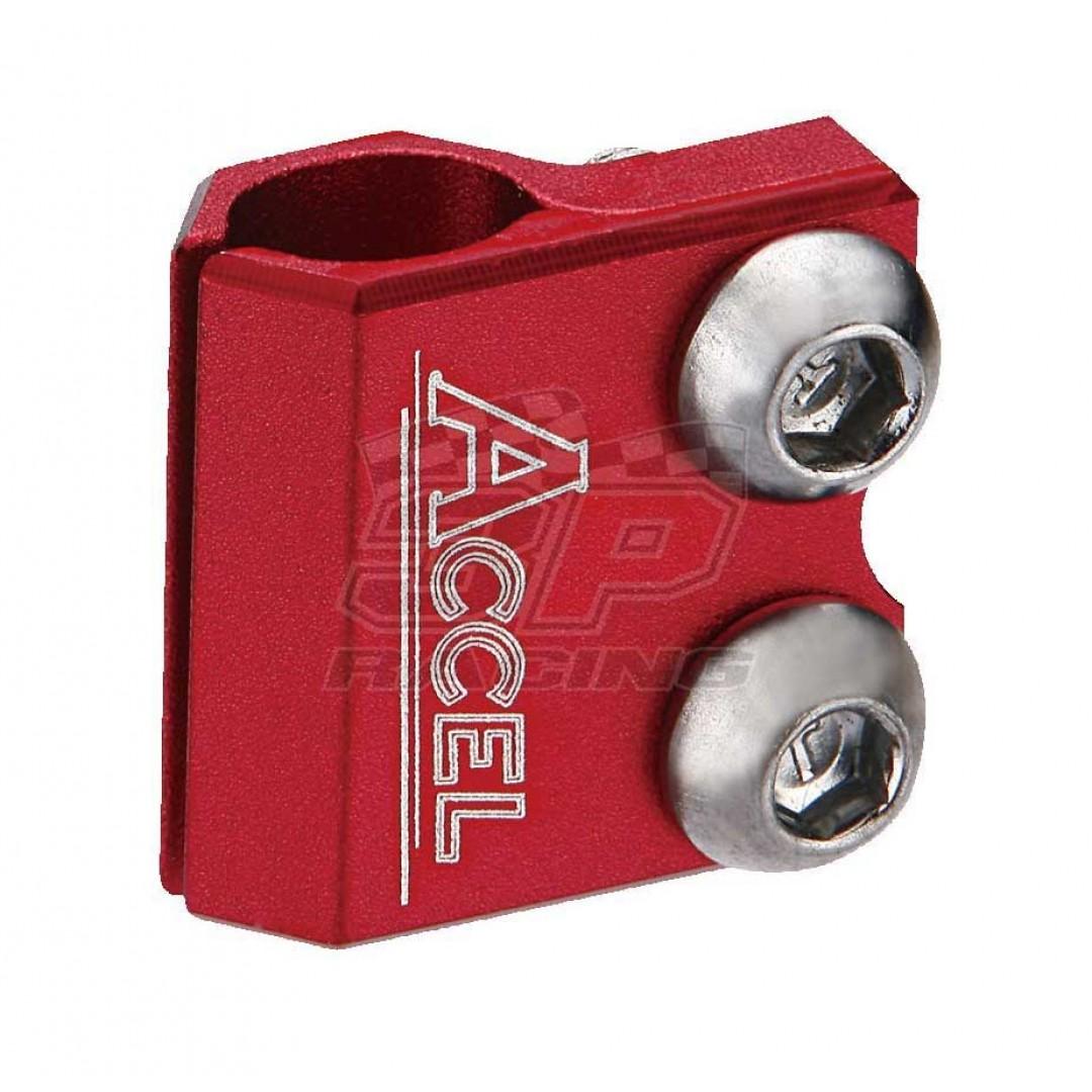 Accel βάση στήριξης σωλήνα εμπρός φρένου - Κόκκινο AC-BLC-01-RED Honda CR 125/250, CRF 250/450 R/X/RX/L, Yamaha YZ 125/250, YZF 250/450, WRF 250/450, WR 250R/X