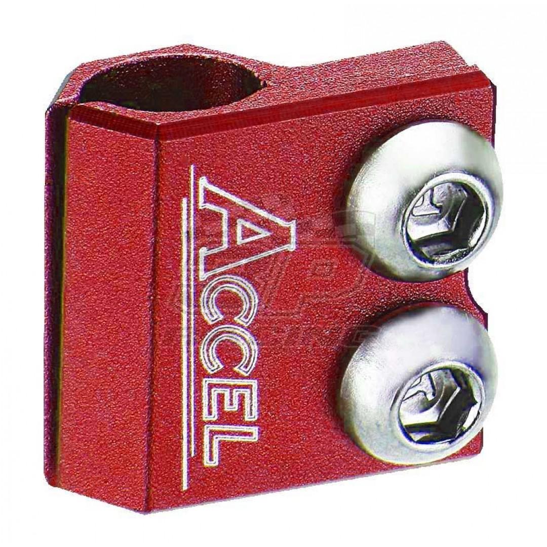 Accel brake line clamp - Red AC-BLC-03-RED Suzuki RM 80/85/125/250, RMZ 250/450, RMX 450, DRZ 400, Kawasaki KX 85/100/125/250/500, KXF 250/450, KLX 450R