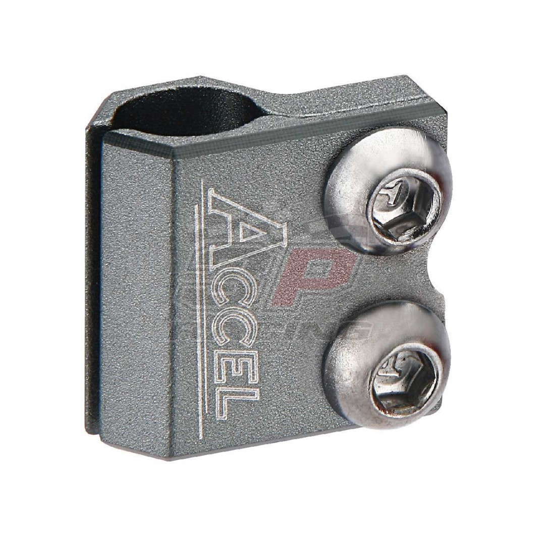 Accel brake line clamp - Silver / Grey AC-BLC-01-SILVR Honda CR 125/250, CRF 250/450 R/X/RX/L, Yamaha YZ 125/250, YZF 250/450, WRF 250/450, WR 250R/X