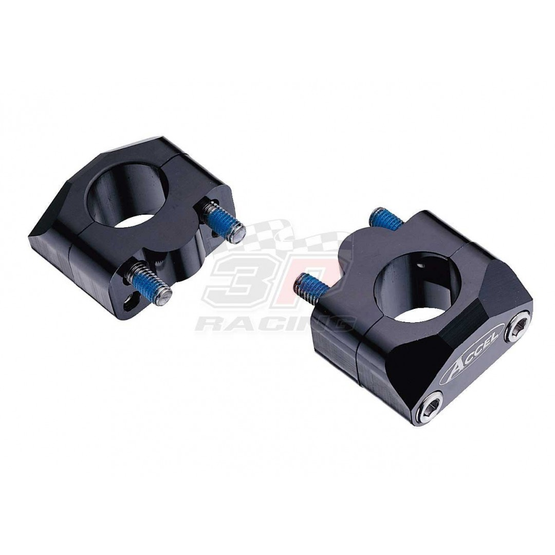 Accel Bar mount kit-Spacer 20mm height for 22.2mm bar Black AC-BM-01-22 Universal