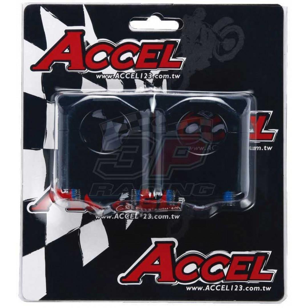 Accel καβαλέτα τιμονιού κιτ-Αποστάτης 35mm ύψος για 22.2mm τιμόνι σε 28.6mm Μαύρο AC-BM-09-28.6BK Universal