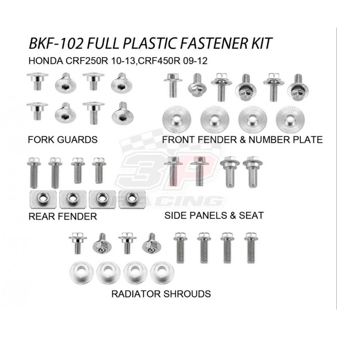 Accel πλήρες κιτ βίδες για πλαστικά AC-BKF-102 Honda CRF 250R 2010-2013, CRF 450R 2009-2012