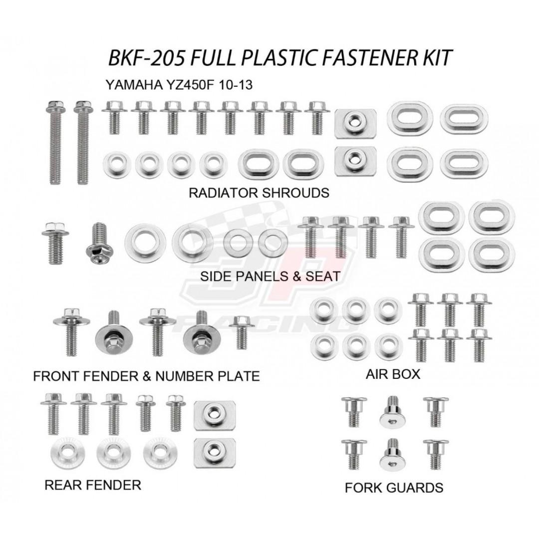 Accel πλήρες κιτ βίδες για πλαστικά AC-BKF-205 Yamaha YZF 450 2010-2013