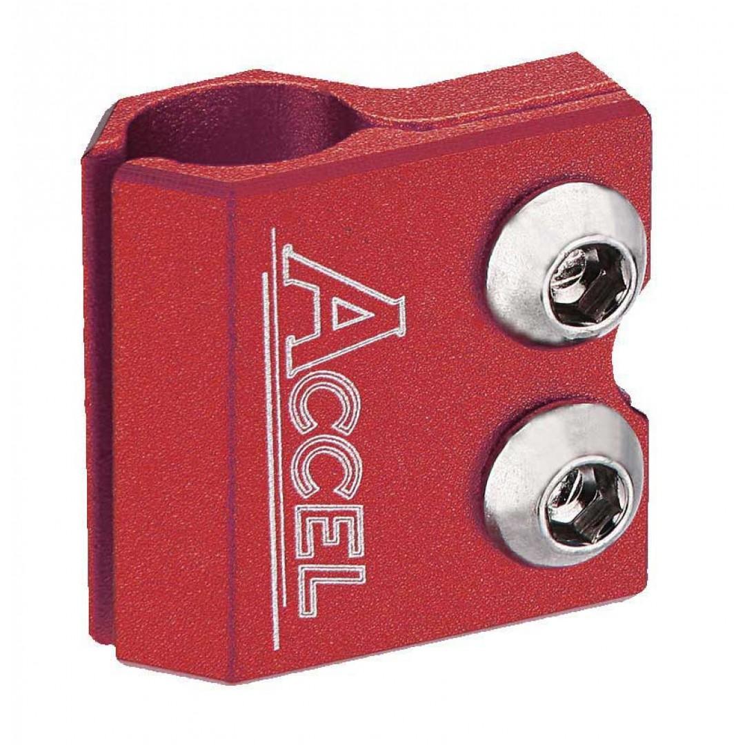 Accel βάση στήριξης σωλήνα εμπρός φρένου - Κόκκινο AC-BLC-02-RED Yamaha YZ 80/85/125/250, YZF/WRF 250/400/426/450, TTR 250, TT/IT, Kawasaki KX 65/80/85/100/125/250