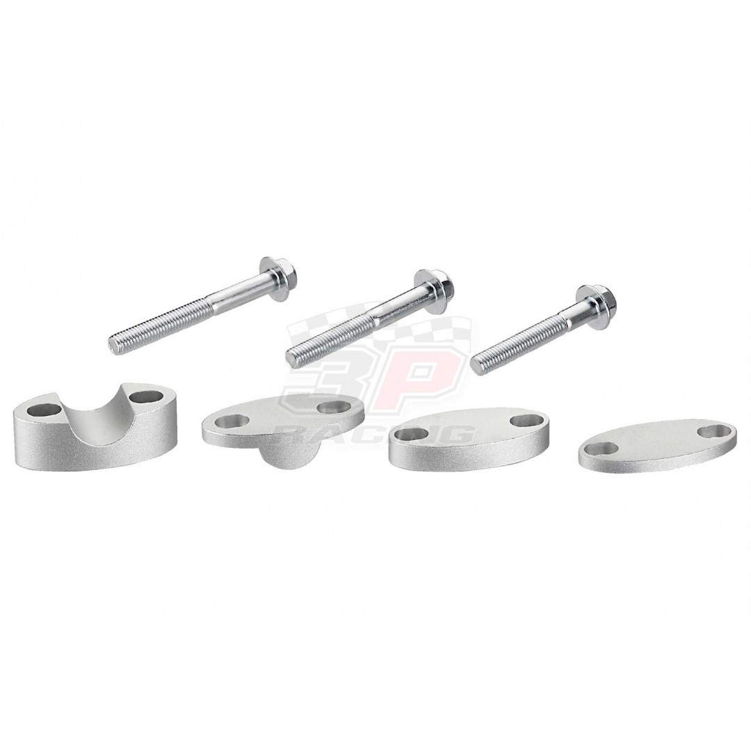 Accel Universal CNC motorcycle handlebar riser - spacer adapter kit with various height raising options for all 22.2 bars. For all bikes - Universal. P/N: AC-BMA-02. CNC machined. Steering Bar bore: 22.2mm. Raiser Height options: 25mm, 30mm, 35mm, 40mm