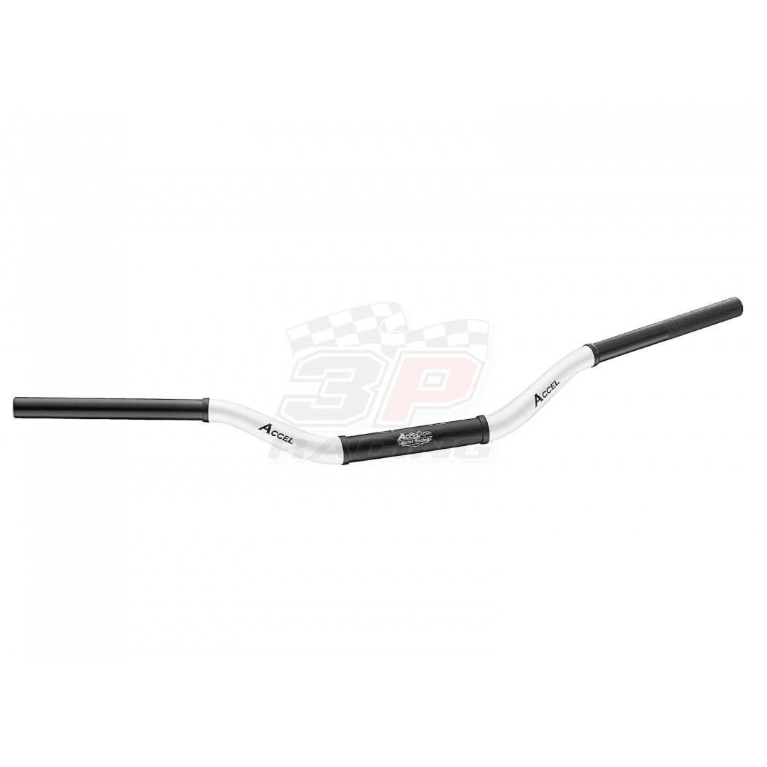 Accel δίχρωμο τιμόνι fat bar 28.6mm Μαύρο / Άσπρο AC-CTH-10-6061W Συμβατό με όλα τα καβαλέτα / βάσεις τιμονιού 28.6