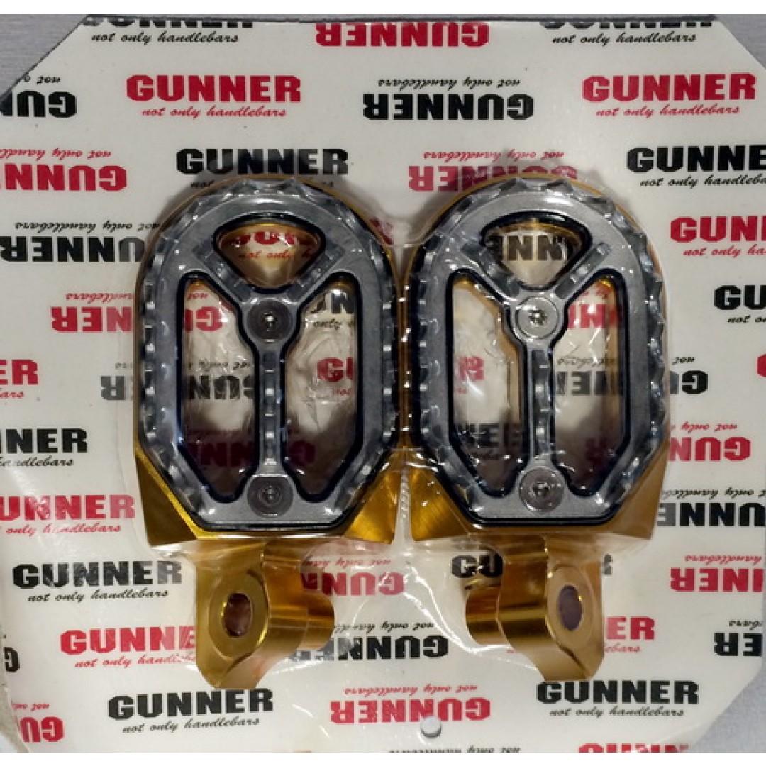 FM Racing/Gunner αποσπώμενοι μαρσπιέδες αλουμινίου χρυσοί EL54520211DS Suzuki RMZ 250 2010-2018, RMZ 450 2008-2018, RMX 450Z 2010-2018