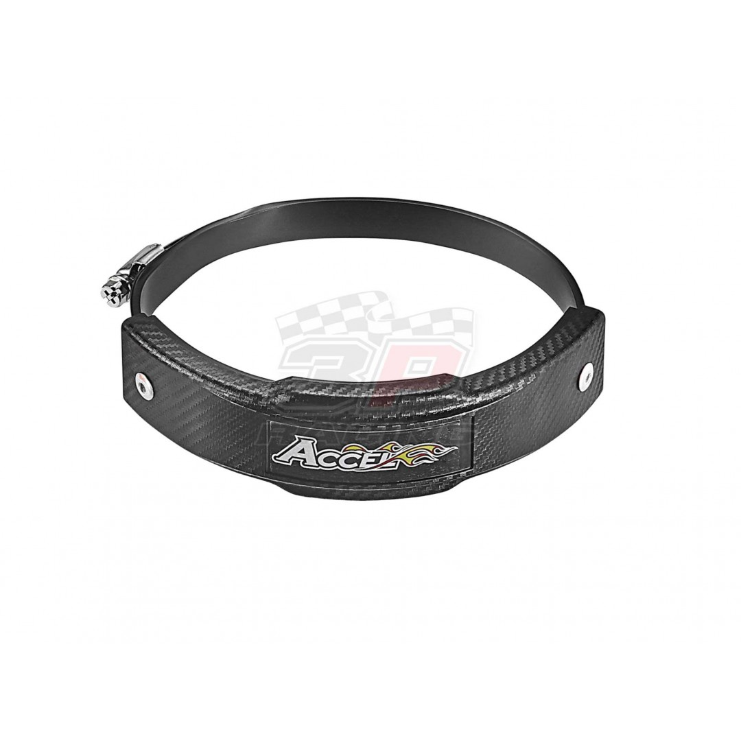 Accel exhaust pipe guard 6'' ring - Black AC-EPG-01-BK Fits 127-152mm pipes