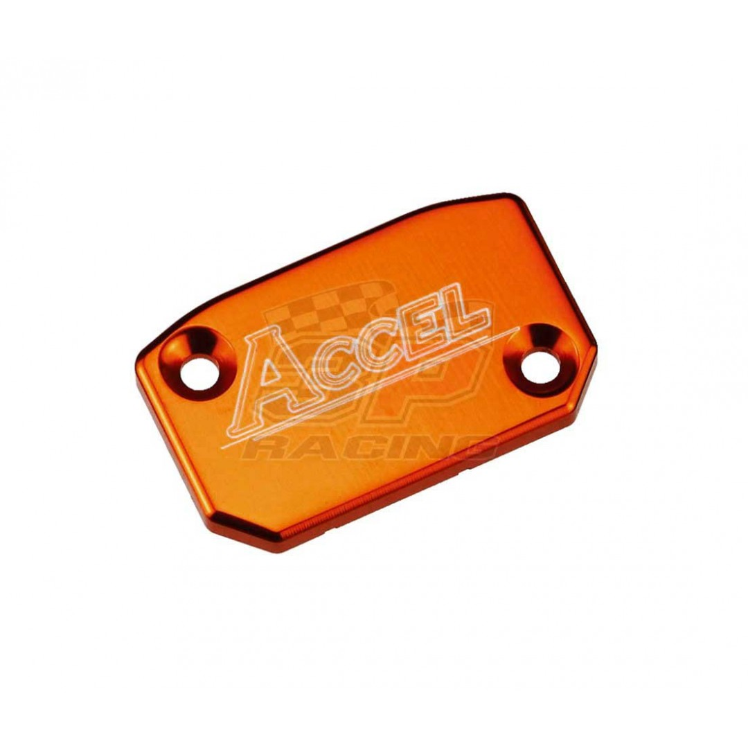 Accel Front brake reservoir cover Orange AC-FBC-03-ORANGE KTM SX/EXC 65/125/144/150/200/250/380/400/450/520/525, SX-F/EXC-F 250/350/450/500, Husqvnara FE/FC/FX & TE/TC/TX