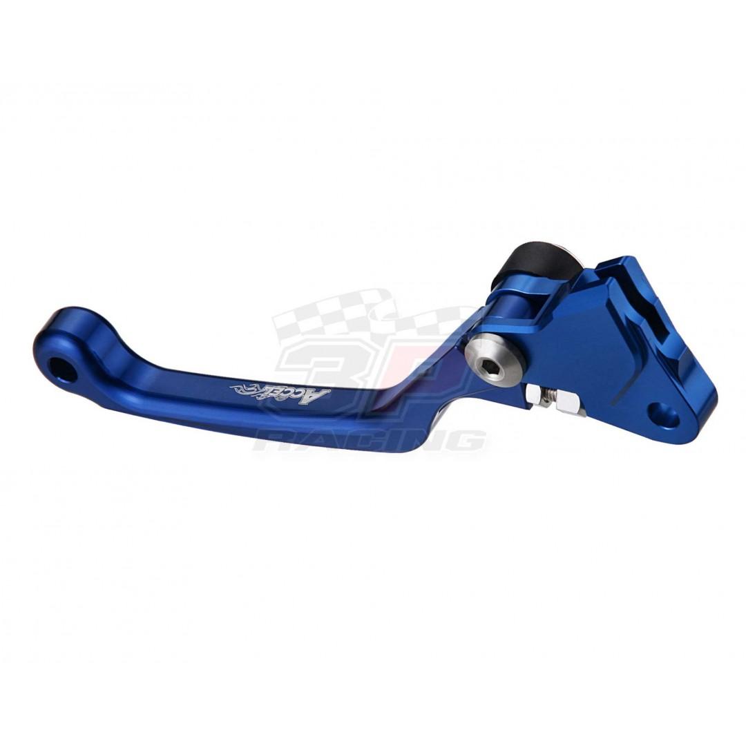 Accel CNC ac-fcl-07-3-bl Blue Folding clutch lever for Yamaha YZ65 YZ85 YZ125 YZ250 YZ250X YZ250F YZF250 YZ250FX YZ426F YZF426 YZ450F YZF450 WR250F WRF250 WR400F WRF400 WRF426 WR426F WRF450 WR450F, ATV YFZ450R X, Kawasaki KX125 KX250 KX250F KXF250 KX450F