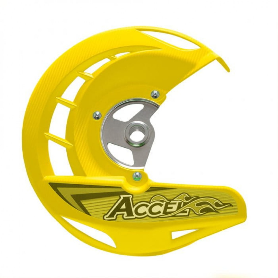 Accel προστατευτικό εμπρός δισκόφρενου Κίτρινο AC-FDG-04-YL Suzuki RMZ 250/450, RMX 450Z