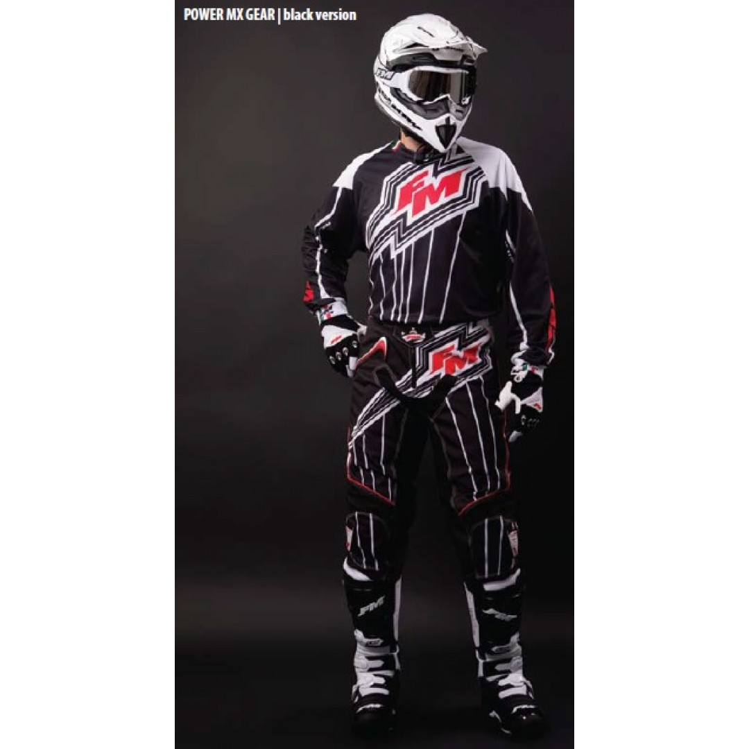 FM Racing μπλούζα Power X22 Μαύρο MA/010/22/PW