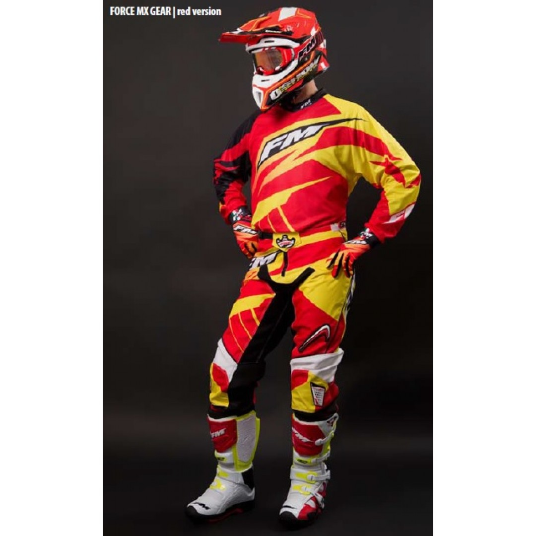 FM Racing MX παντελόνι Force X22 Κόκκινο/Κίτρινο PA/001/22