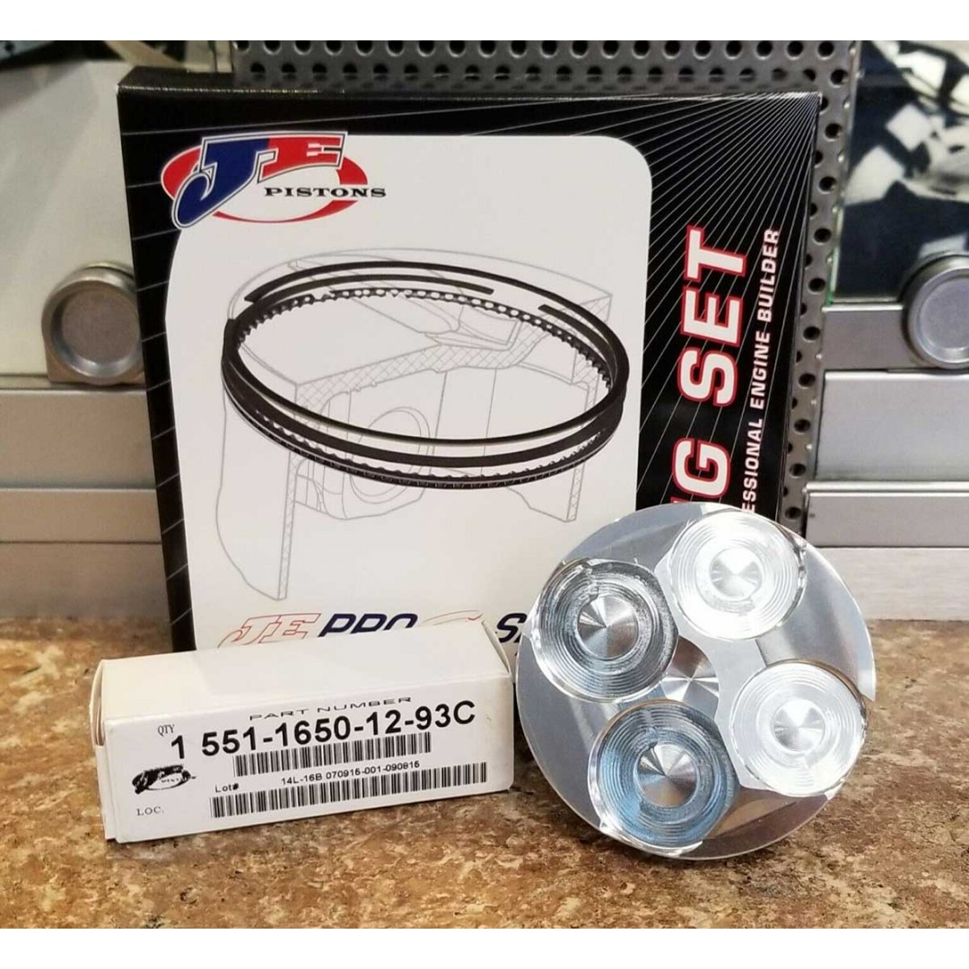 JEpistons 274177 forged piston kit Big Bore +4mm 70.00mm with a 13.0:1 High compression ratio for Honda CRF150 CRF150R CRF150RB 2007 2008 2009 2010 2011 2012 2013 2014 2015 2016 2017 2018 2019 2020. With piston rings, pin and Circlips. JE-274177