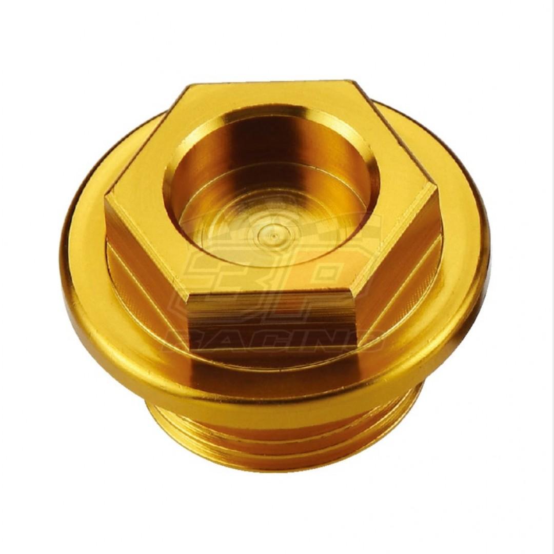 Accel AC-OFP-03-GD CNC Yellow oil fill plug for Suzuki RM80 RM85 RM100 RM125 RM250 RM500 RM-Z250 RM-Z450 RMX450Z RMX250, Intruder Boulevard VL VZ VS 125 250 800 C50 M50 S50 C90 S40, VStrom DL1000 DL650, SV650 GSR GSXR GSX GSF Bandit , Burgman 400 650, TS