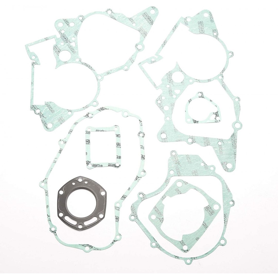 Athena P400210850101 full gasket kit for Honda CRM125 1986-1996, NSR125 1986-2001. P/N : P400210850101. Kits includes all necessary gaskets, O-rings and valve seals to rebuild the entire engine and transmission. Does not contain crankshaft and transmissio