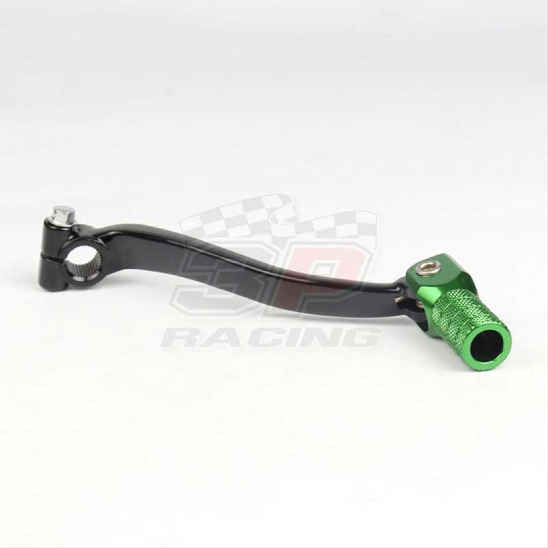 Accel CNC Black / Green gear shifter change lever for Kawasaki KXF250 KX250F KX 250F 2009-2020. Forged with genuine billet aluminium. P/N: AC-SCL-7471. Replaces Kawasaki OEM parts 13156-0124