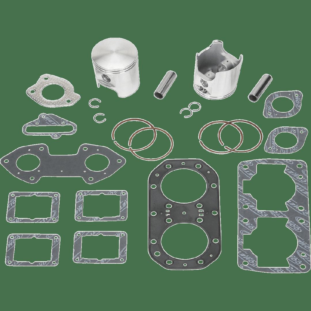 Wiseco complete Twin cylinder over bore piston set 76.50mm w/ top end gasket kit WK1017 fits JetSki Kawasaki JS650 SX650 650SX X-2 650, TS650, SC650 1987 1988 1989 1990 1991 1992 1993 1994 1995 1996. Piston Rings Piston pin, Circlips. Piston 549M07650