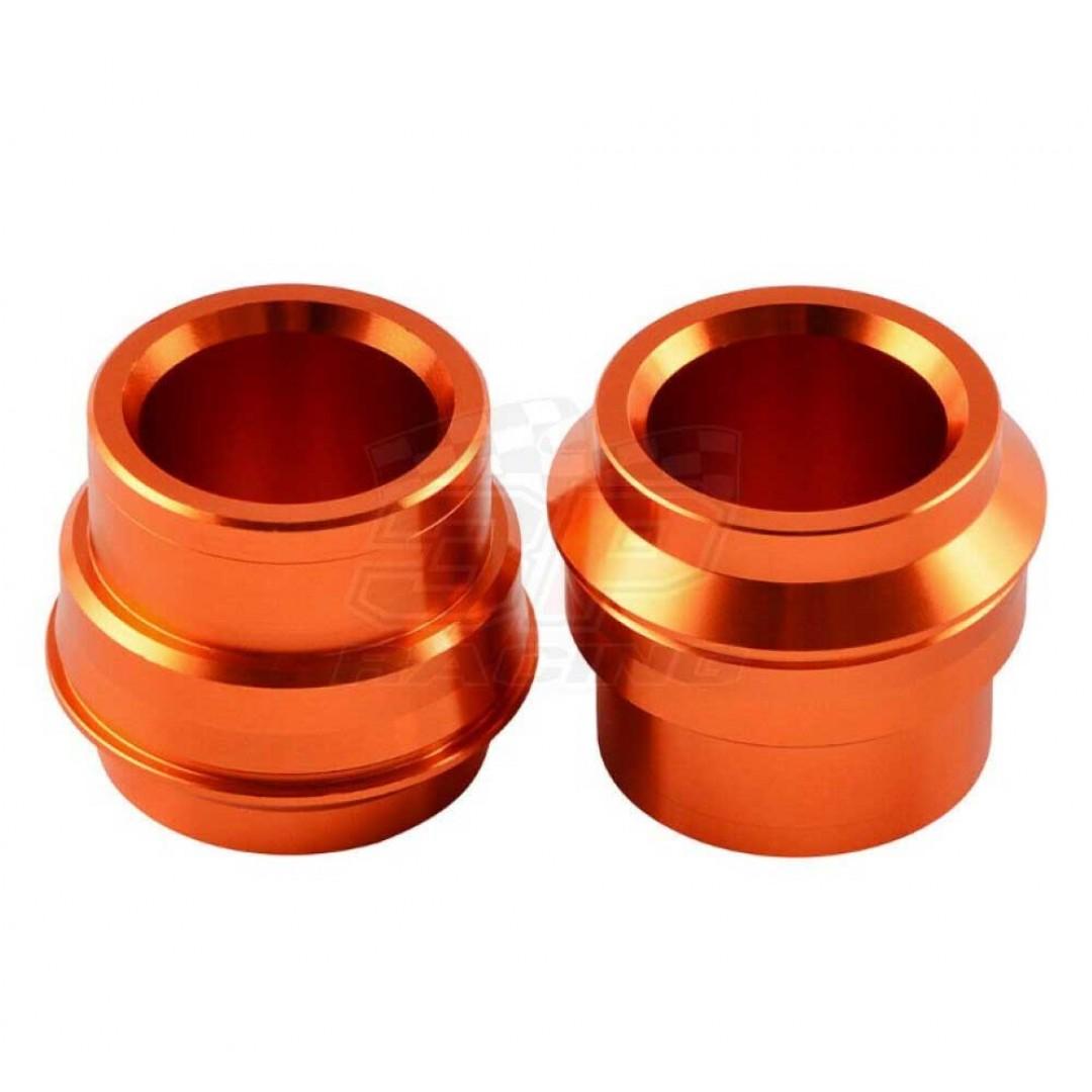 Accel CNC Orange frontwheel spacer kit AC-WSF-502-OR for KTM EXC125 EXC150 EXC200 EXC250 EXC300 EXC450 EXC500 EXCF250 EXC-F250 EXCF350 EXC-F350 EXCF450 EXC-F450 EXCF500 EXC-F500, SX125 SX150 SX250 SXF250 SX-F250 SXF350 SX-F350 SX-F450 SXF450. KTM OEM 7770