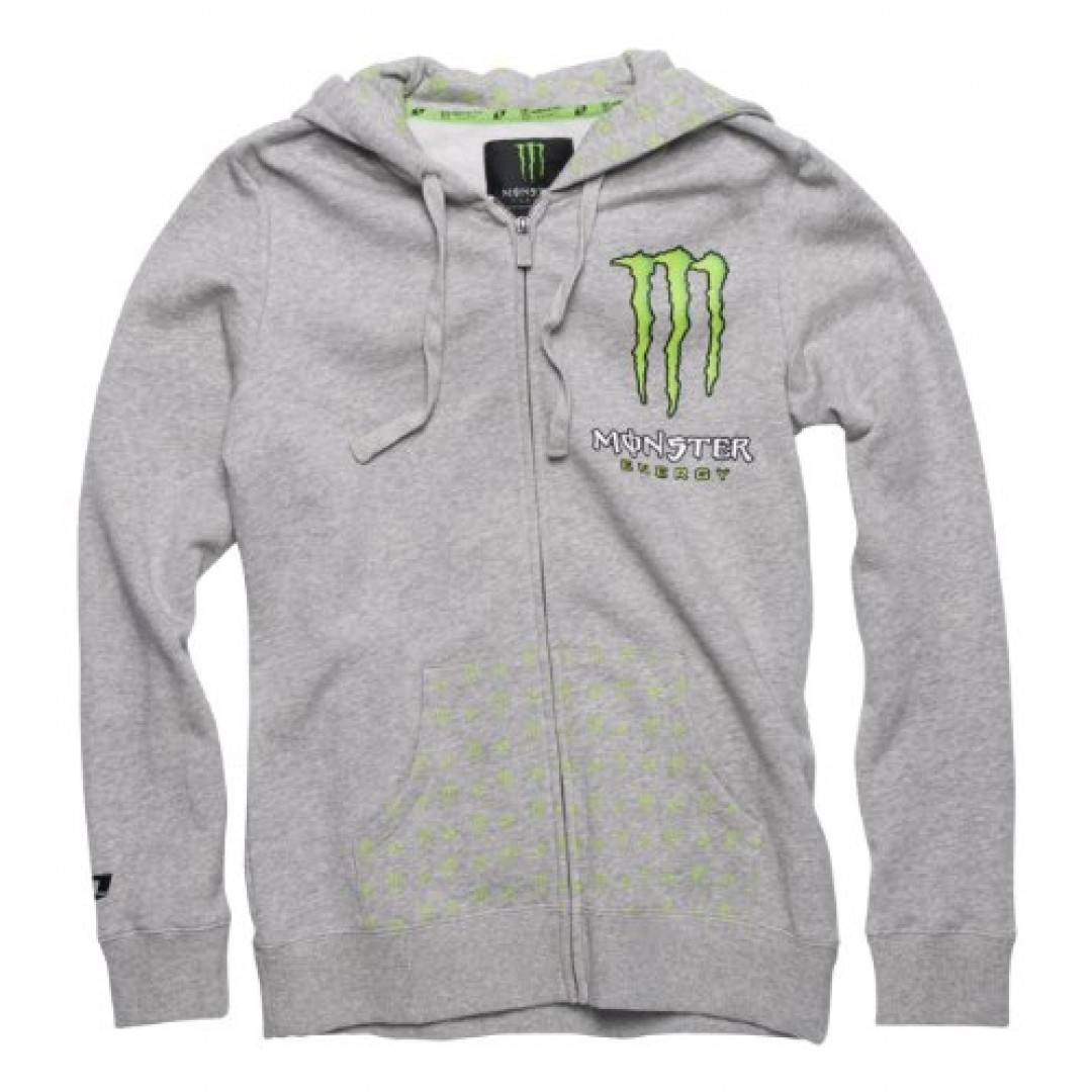 ONE Industries Monster Patrie Girls Gray Hoodie 07052-015