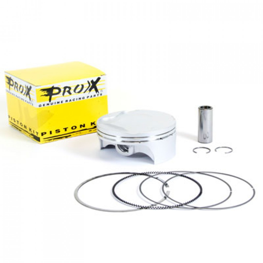 ProX forged piston kit for Suzuki RMZ450 RM-Z450 2008 2009 2010 2011 2012, RMX450Z RMX450 2010-2018.Kit includes piston rings,pin and circlips. P/N:01.3409.A, 01.3409.B, 01.3409.C , Diameter: 94.96mm(A), 95.97mm(B). High Compression ratio : 13.2:1