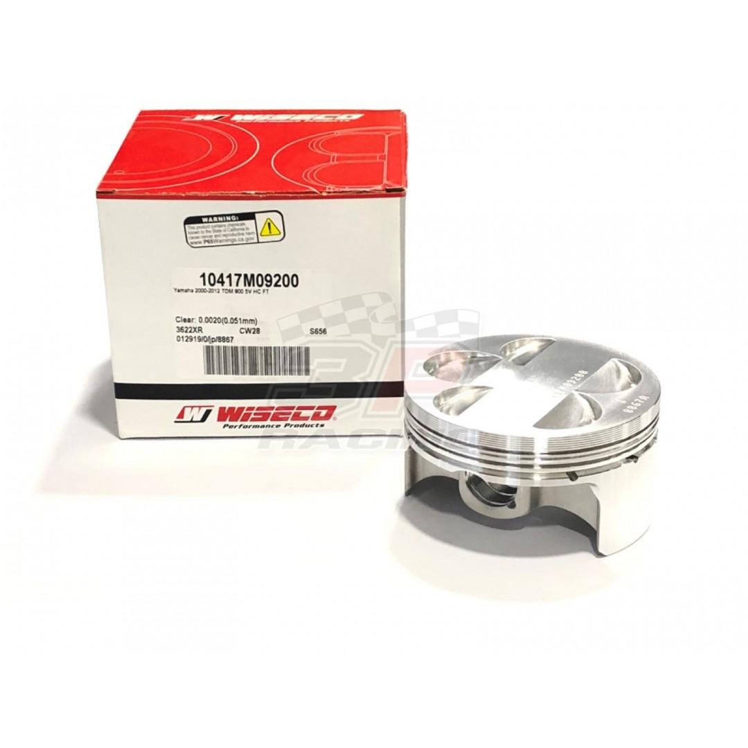 Wiseco forged piston kit Yamaha TDM 900 TDM900 2002-2013. P/N:10417M09200, Diameter: 92.00mm, Standard Compression ratio: 11.2:1. Kit includes piston rings,pin and circlips