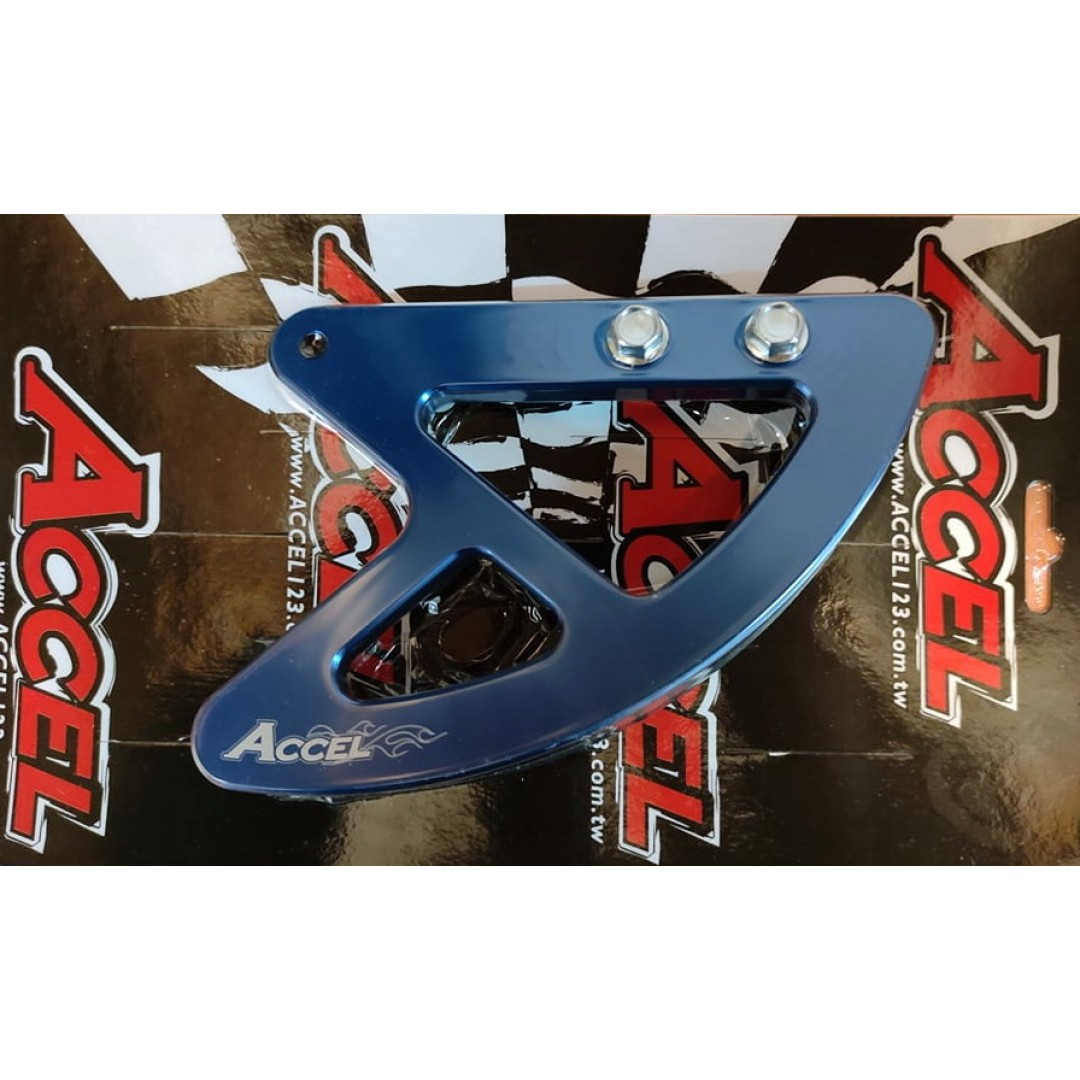 Accel rear brake disc guard Blue AC-RBDG-101-BL Honda CR 125, CR 250, CRF 250R, CRF 250X, CRF 250RX, CRF 450R, CRF 450X, CRF 450RX, CRF 450L