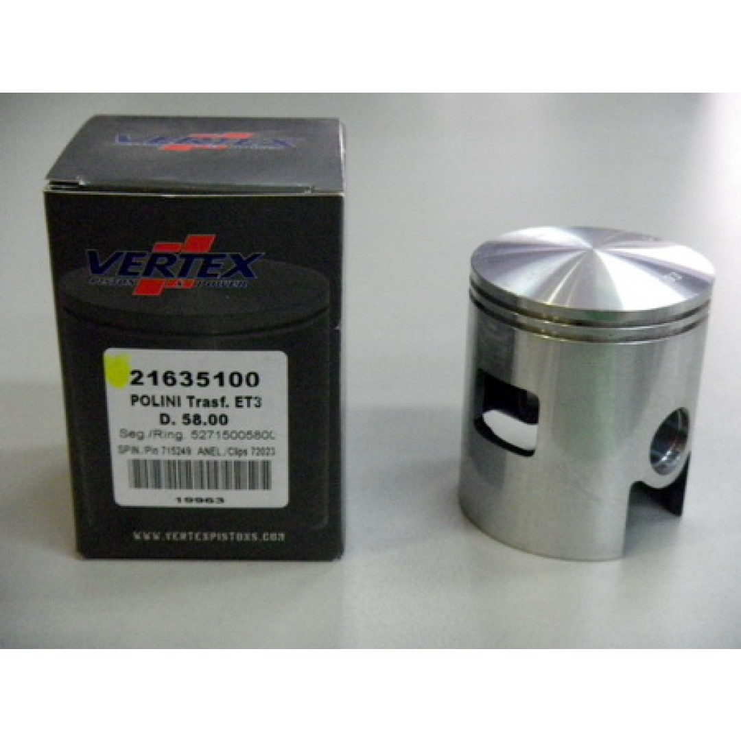 Vertex piston kit 21635 Polini Vespa ET3 All years