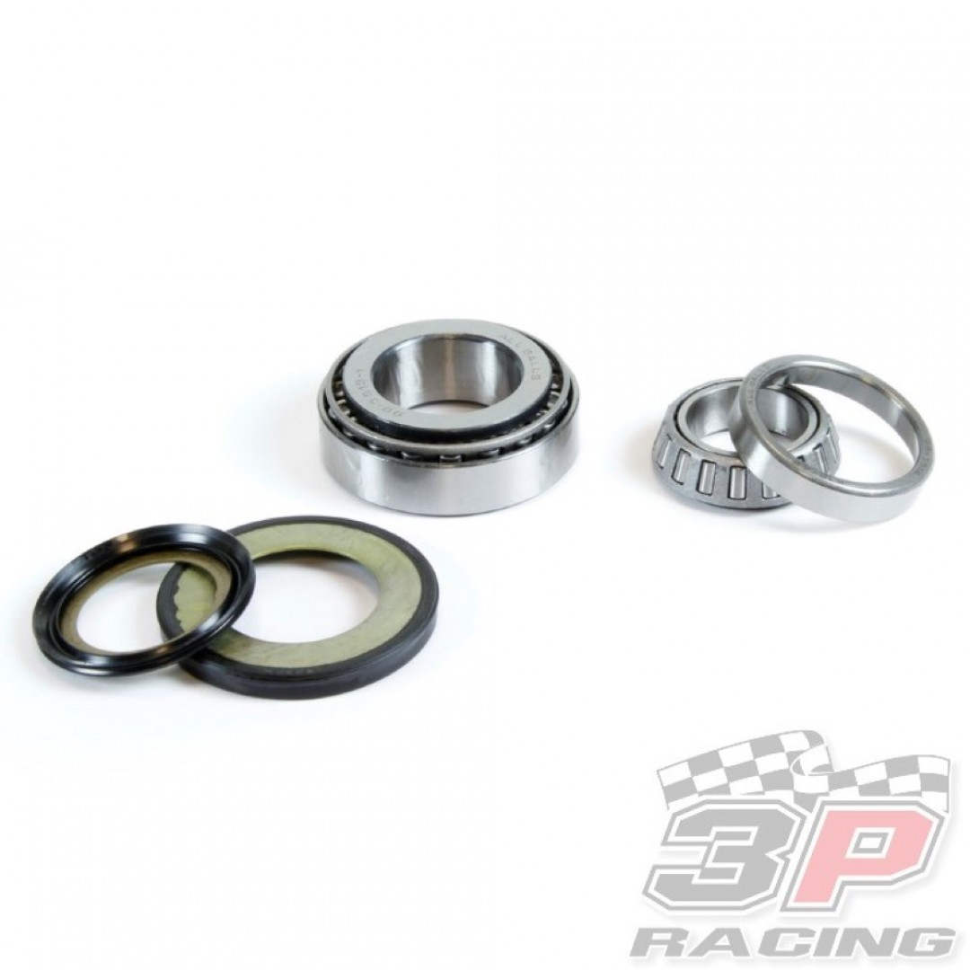 ProX steering stem bearing & seal set for Yamaha DT 125 DT125 DT125R TDR125 DT 200 DT200 DT200R TT225 TTR225 TT-R225 TT-R 225 XT225 Serow, Serow225, BW350. Includes all necessary parts to make your bike turning like it is brand new.