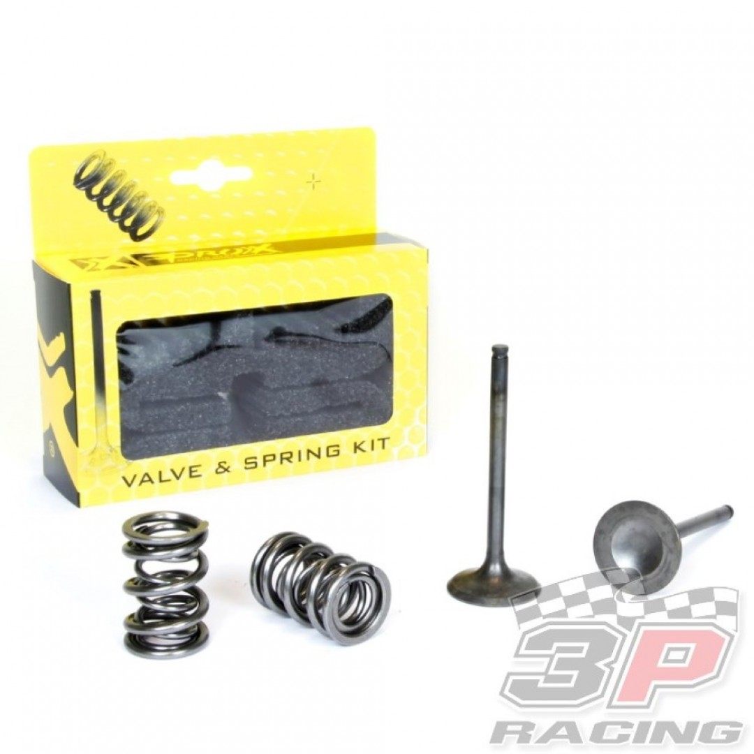 ProX steel exhaust valves & springs set 28.SES4406-1 Kawasaki KXF 450 2006-2008, ATV KFX 450R 2008-2014
