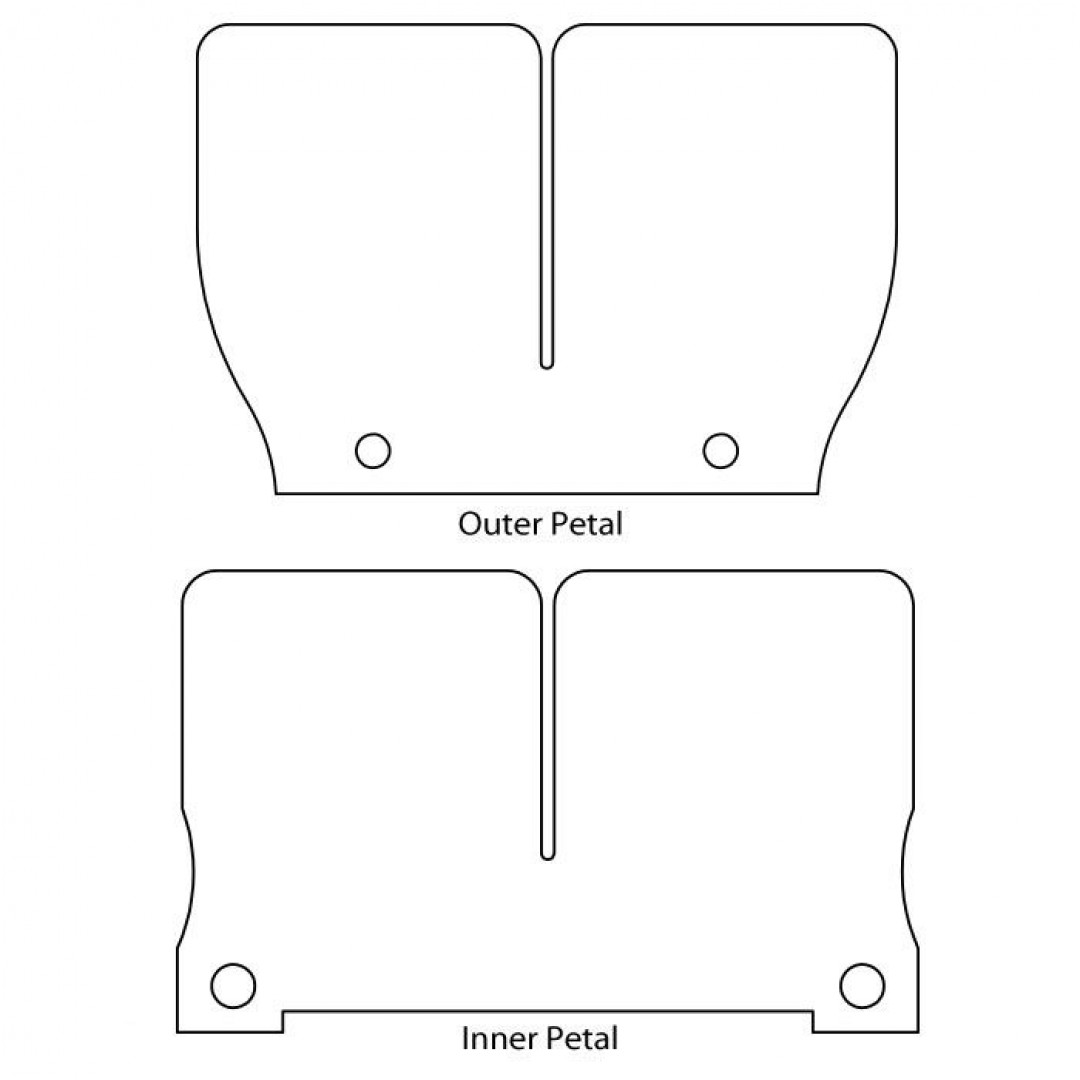 Carbon fiber V-Force 2 replacement reed petals 2P117-1 ATV Honda, Polaris, Suzuki, Jet Ski Polaris, Arctic Cat