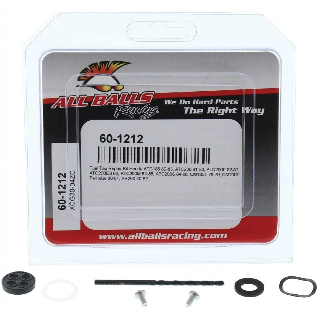 All Balls Racing Fuel Tap Repair kit 60-1212 Honda CM 185T/200T, XR 200, ATV Honda ATC 185/200S/ES